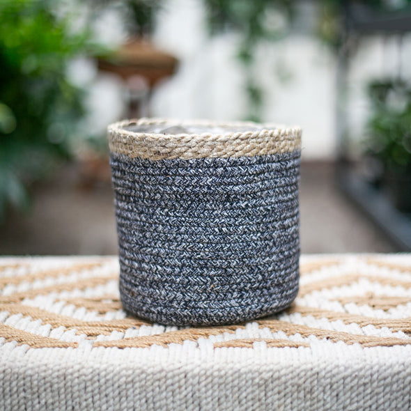 "6"" Gray & Tan Basket"