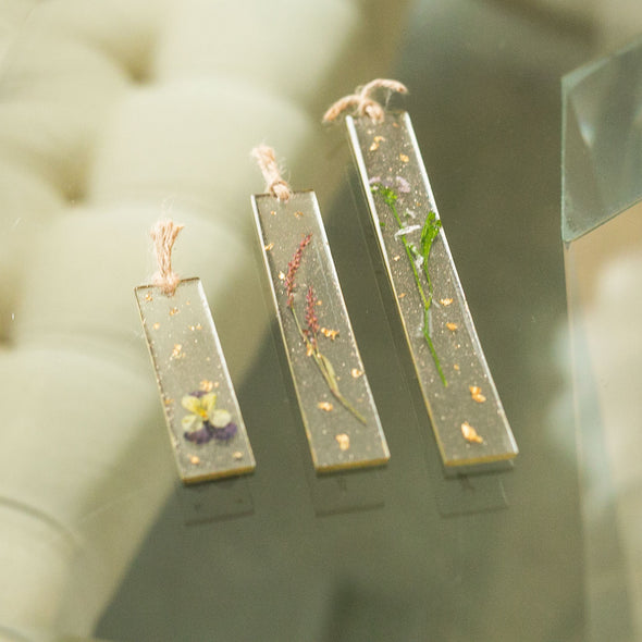 Ma Petite Fleur: Unique & Handmade Dried Floral Resin Bookmarks