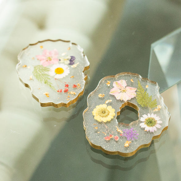 "Ma Petite Fleur ""Unique & Handmade Dried Floral Resin Coasters"""