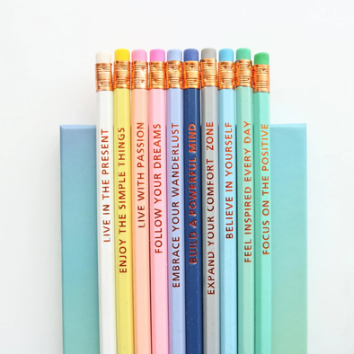 "Happiness Planner ""Inspirational Pencils"""