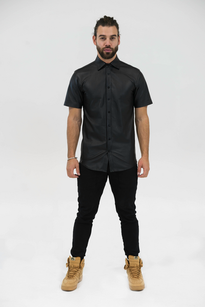 Leather Short Sleeve Shirt