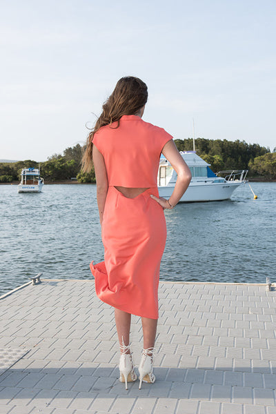 Cyprus Dress - Coral