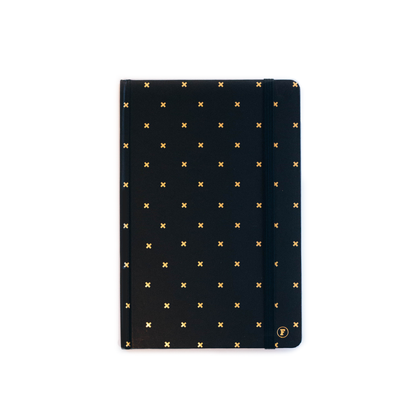 A5 Black Cross Journal