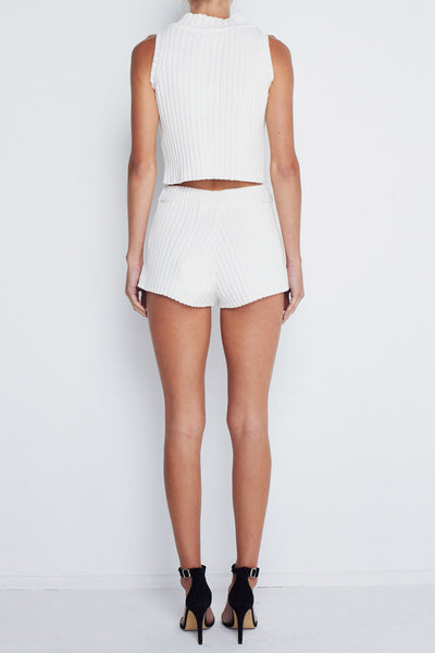 Rib Knit Short -  Cream