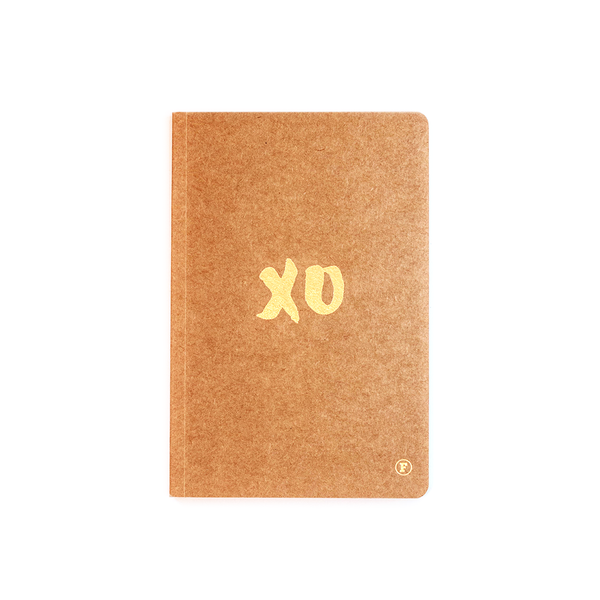 A5 XO Journal - Kraft/Gold