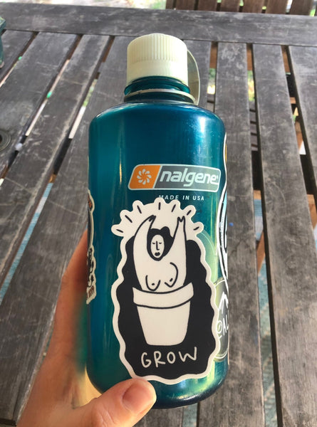 GROW weatherproof vinyl sticker