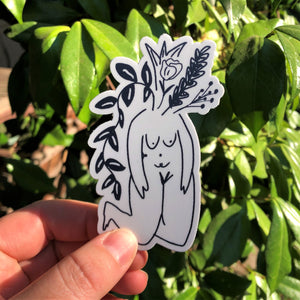 PLANT HEAD weatherproof vinyl sticker