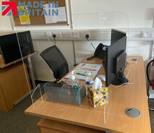 Load image into Gallery viewer, LAST FEW! Sneeze Screen UK - 4mm Desk Top Guard 700 x 600mm - The Screen Company