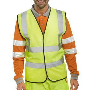 B-SEEN HI-VIS HIGH VISIBILITY VEST WAISTCOATS - The Screen Company