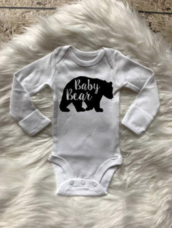 Baby Bear Newborn Grow Coming Home Shower Baby Onesie Outfit Bodysuits