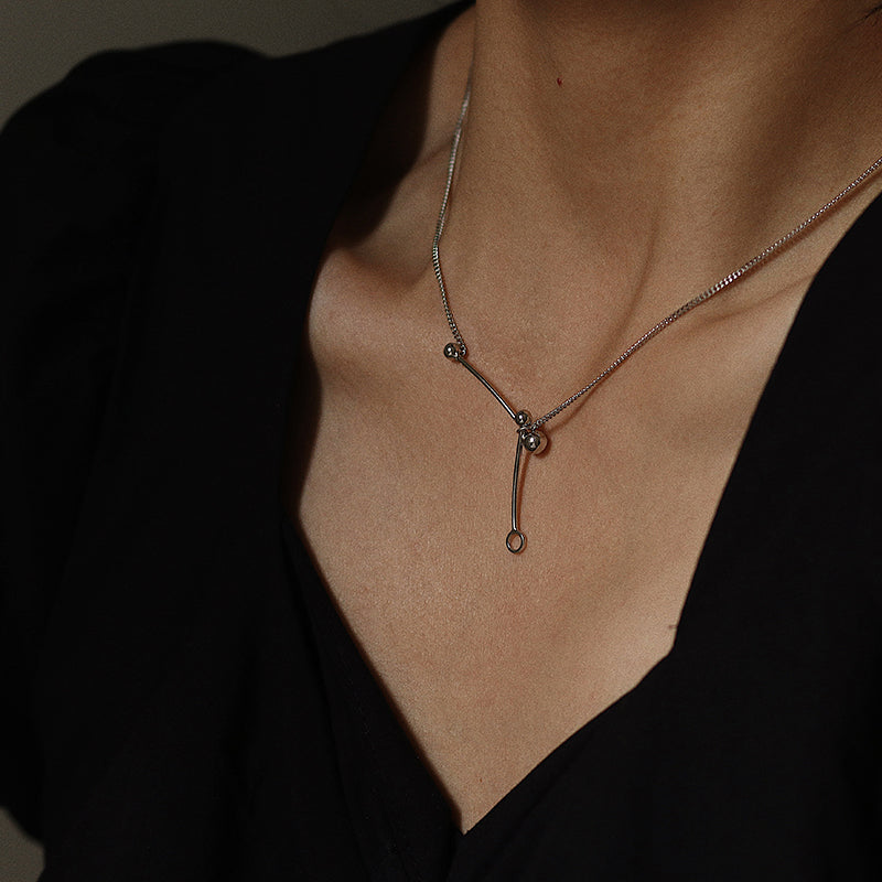 Sterling Silver Minimalism Necklace