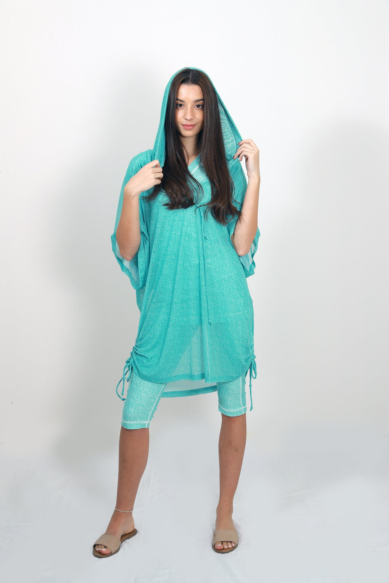 Hooded Agadir Cover Up Top
