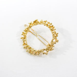 Cordelia Textured Metal Gold Hair Clip