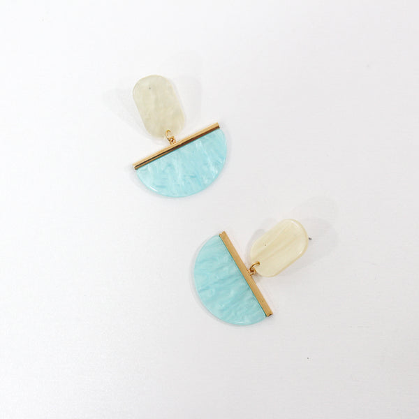 Josephine Resin Cream Turquoise Earrings