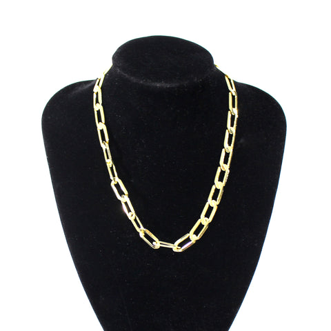 Flavia Plated Statement Chain T-Bar Necklace