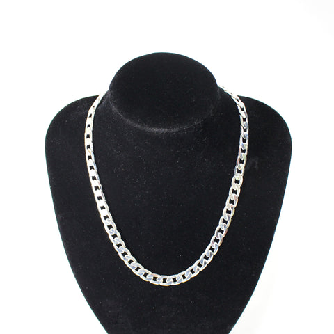 Domitia Plated Statement Chain T-Bar Necklace