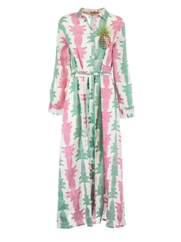 Alessia Massimo Caftan Pink & Green