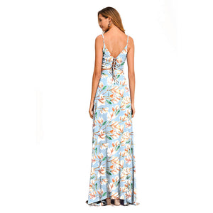 Women Sexy Sleeveless Camis Tank Tops Elegant Long Skirt Two-Piece Maxi Dress
