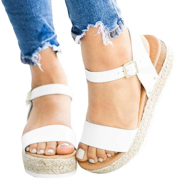 Fashion Stylish Leather Sandals for Women with Strap Plus Size