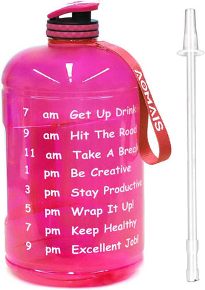 Adanike Gallon Water Bottle for Sports Gym Fitness Work