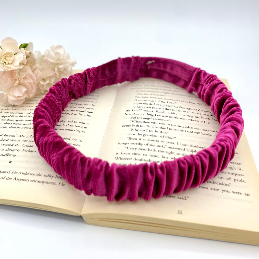The Cerise Ruched Hairband
