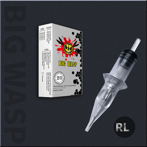 BIGWASP Cartridges Needle Matte Transparent-Round Liner