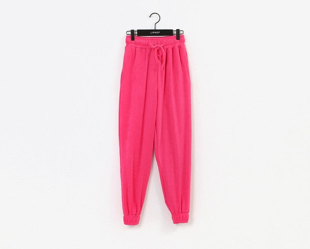 Autumn and Winter 2020 Woman's Sweatpants Fro Sports Casual Lounge Wear Woman Trousers