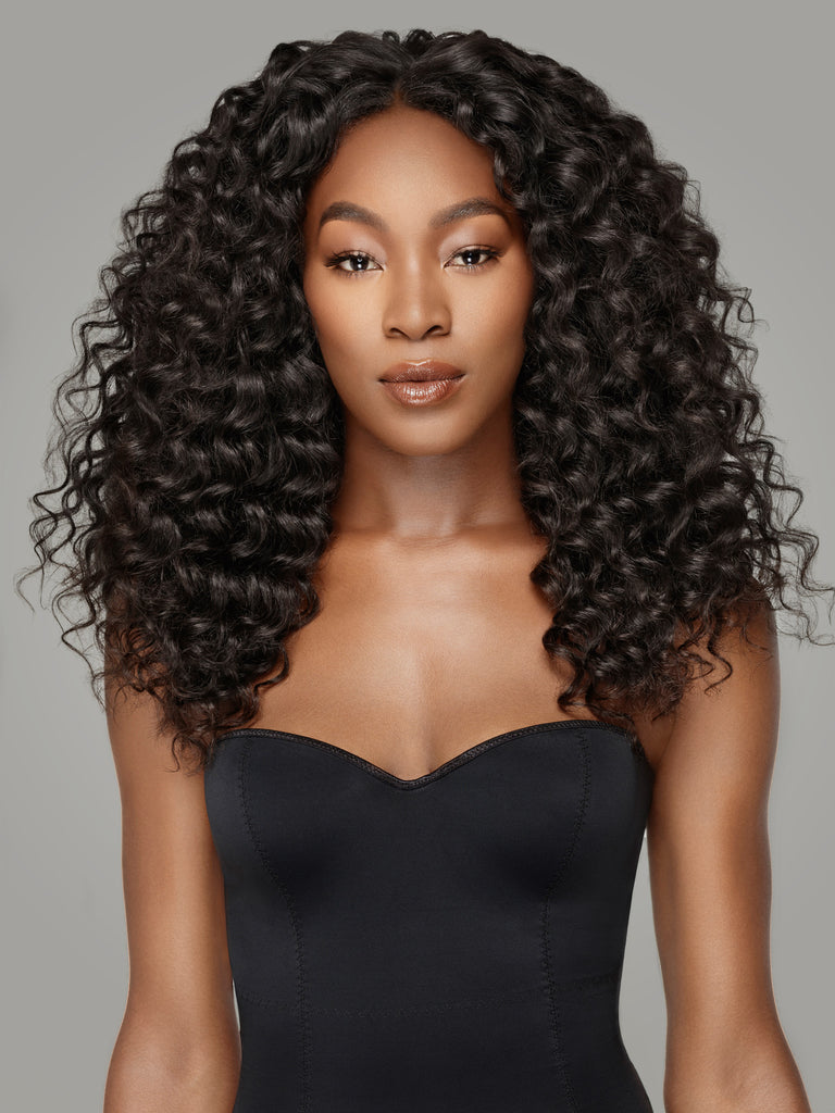 Brazilian Deep Wave Hair,100% Virgin Remy Hair,4*4 Lace Closure by Indique