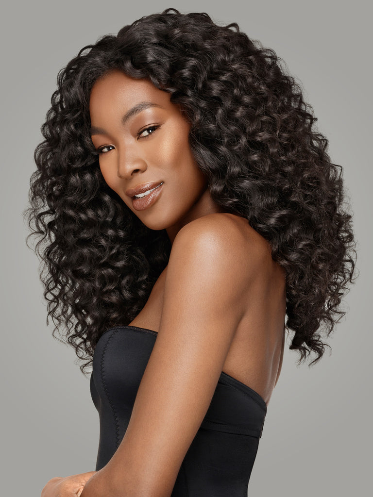 top selling,lace closure free/middle/three part for choice ,lace closure with hair weaves by Indique