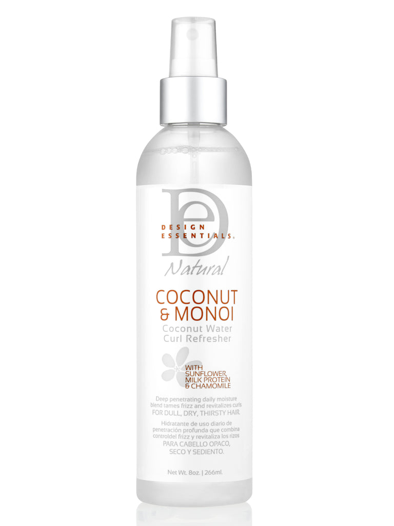 Design Essentials® Coconut & Monoi Water Curl Refresher: 8 OZ, Wavy Hair, Weave