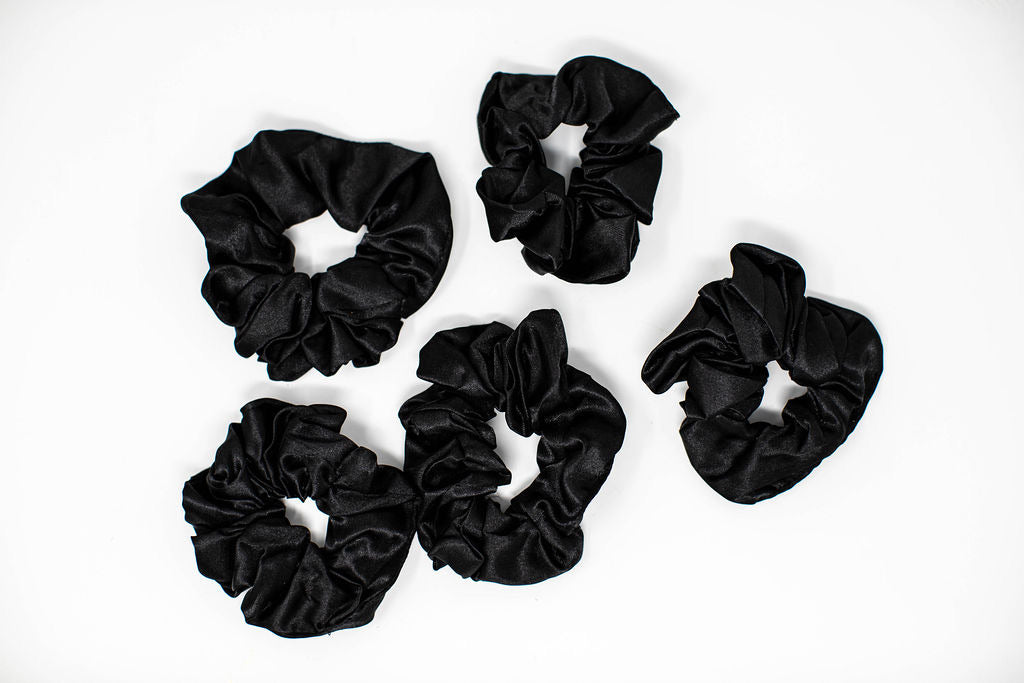 Curls Poppin' Pinneaple Satin Scrunchies (5-pk)
