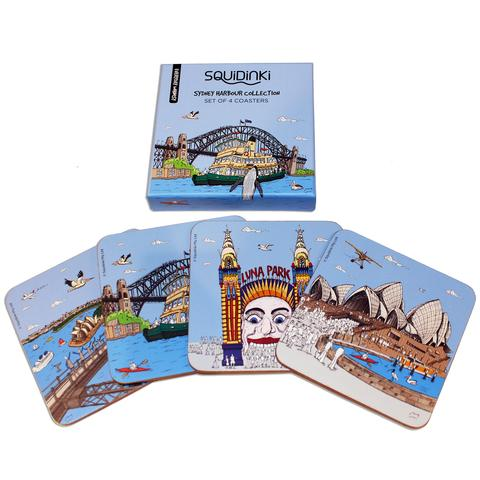Sydney Harbour Collection Coasters, Set of 4