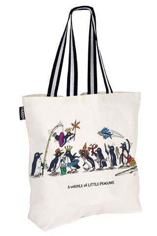 Waddle of Penguins Cotton Tote Bag