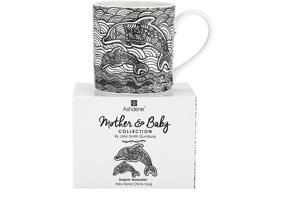 Mother & Baby Dolphin Mug