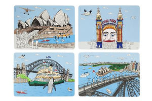 Sydney Harbour Collection Placemats, Set of 4