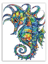 Load image into Gallery viewer, Tracey Keller Ethereal Seahorse Greeting Card