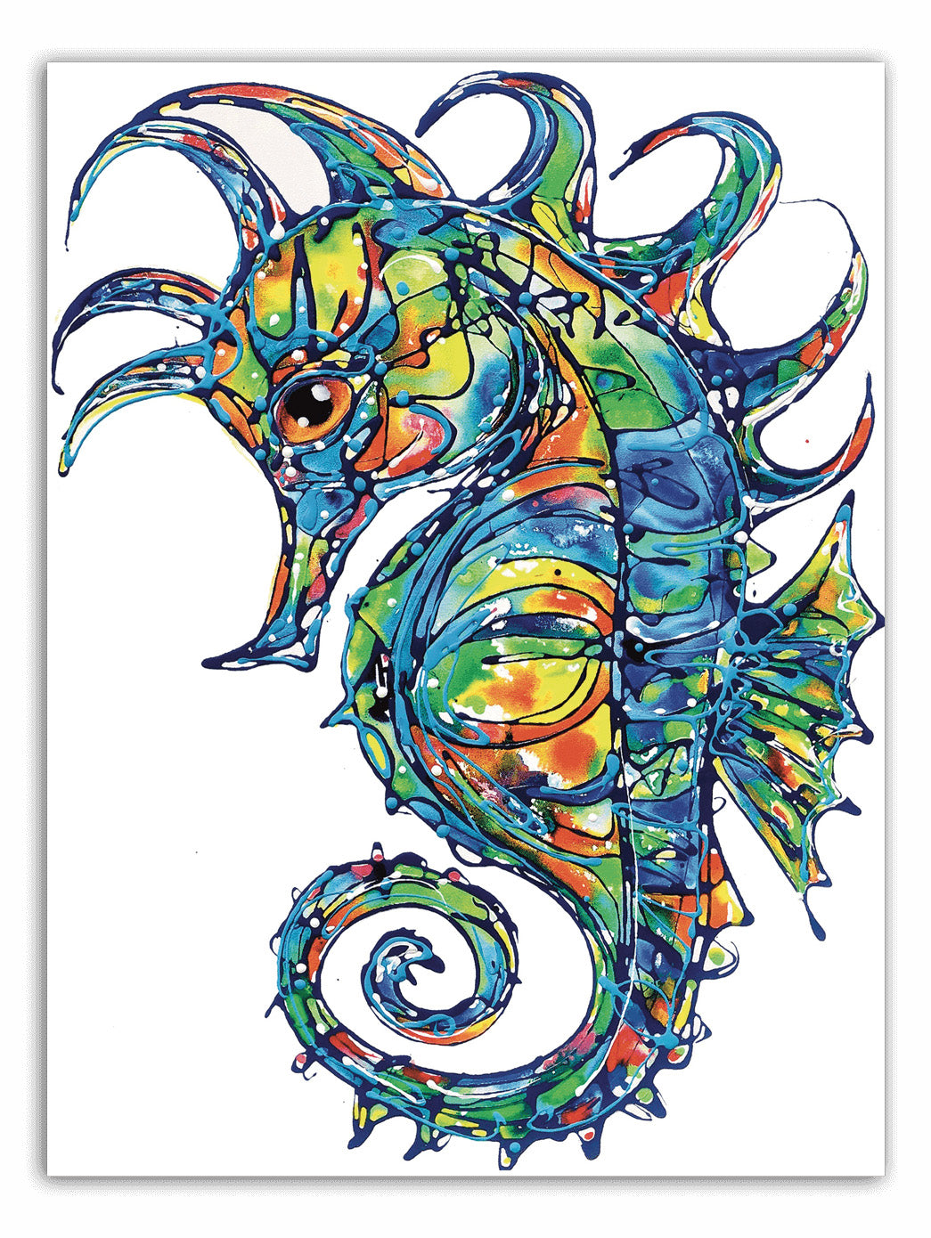 Tracey Keller Ethereal Seahorse Greeting Card