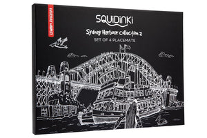 Sydney Black & White Collection Placemats, Set of 4