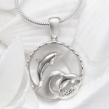 Load image into Gallery viewer, Waverider Dolphin Necklace