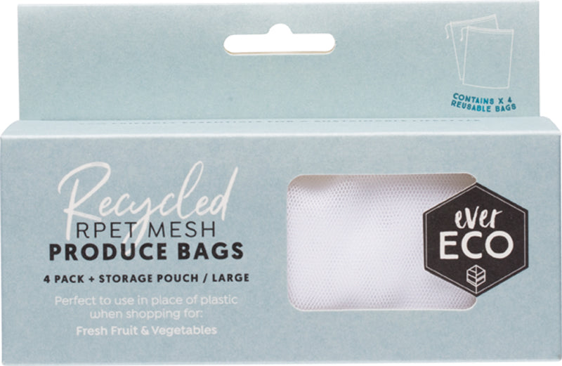 Ever Eco Reusable Produce Bags   Recycled Polyester Mesh 4 Pack