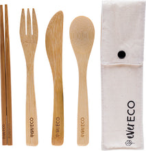 Load image into Gallery viewer, Ever Eco Bamboo Cutlery Set   With Chopsticks