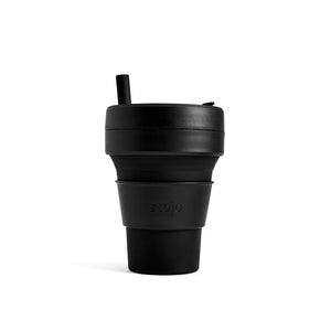 Stojo Biggie 16oz Collapsible Cup with Straw