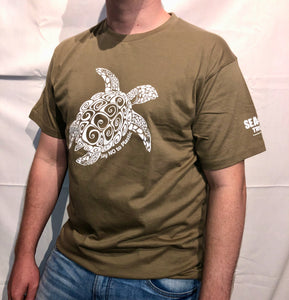 SEA LIFE Trust Turtle Say No to Plastic Unisex t-shirt Mocha