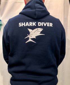 Shark Dive Xtreme Unisex Hoodie Navy