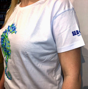 SEA LIFE Sydney Seahorse Ladies t-shirt White