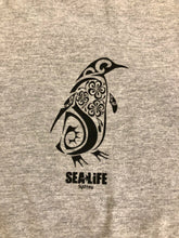 Load image into Gallery viewer, SEA LIFE Sydney Celtic Penguin Unisex t-shirt Grey