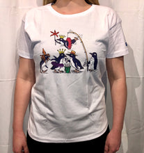 Load image into Gallery viewer, SEA LIFE Sydney Waddle of Penguins Ladies t-shirt White