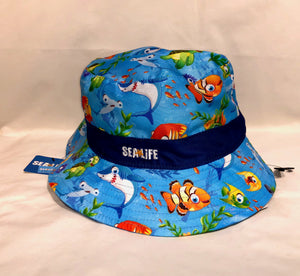 SEA LIFE Under the Sea Kids Bucket Hat with Navy Band