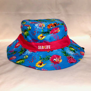 SEA LIFE Under the Sea Kids Bucket Hat with Pink Band