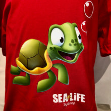 Load image into Gallery viewer, SEA LIFE Sydney Turtle Kids t-shirt Red
